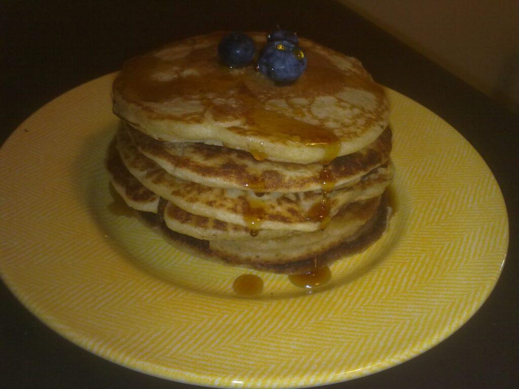 Pancakes nella macchina del pane;