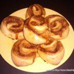 Cinnamon rolls con la macchina del pane